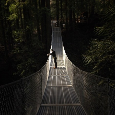 Cascade Falls Suspension Bridge Instagram Moment by @braedin