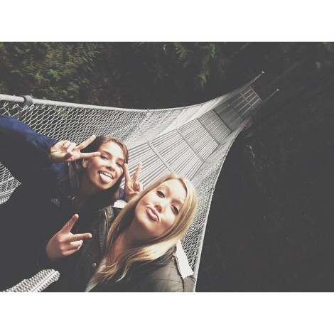 Cascade Falls Suspension Bridge Instagram Moment by @haleyjay21